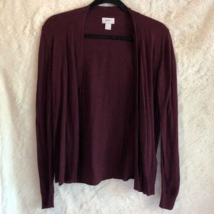 Old Navy Purple Burgundy Open Front Knit Cardigan
